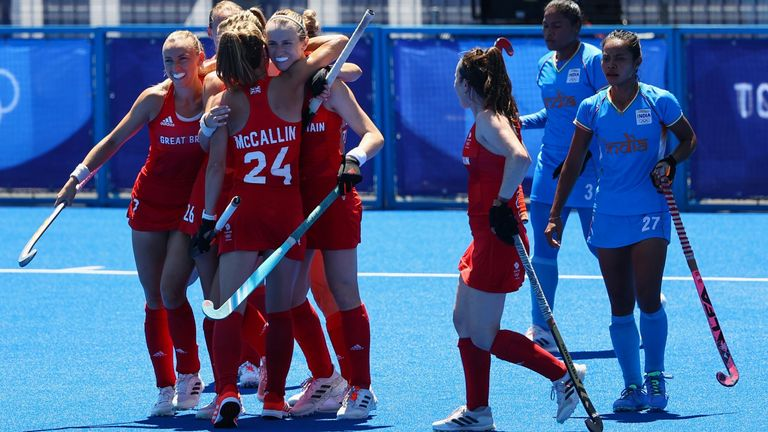 Elena Rayner's goal in the second period helped put Team GB in control