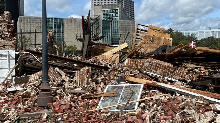 """Originally described as an """"extremely dangerous"""" category four storm, it hit on the same date Hurricane Katrina ravaged Louisiana and Mississippi 16 years earlier."""