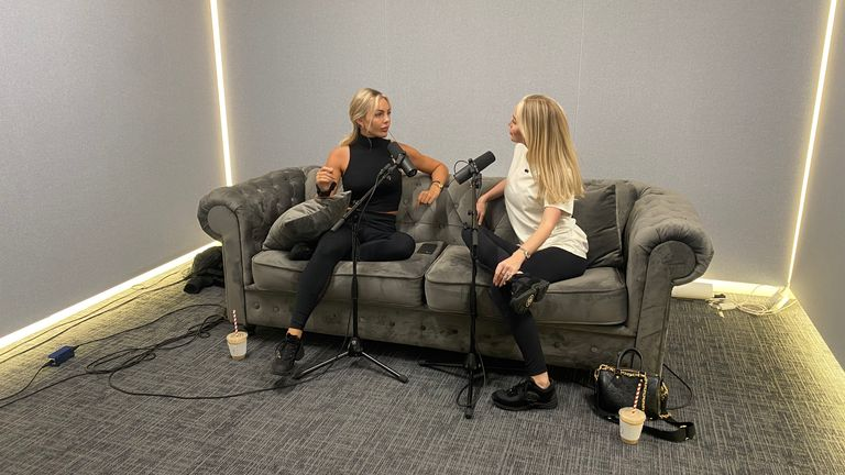 Lauren Harris (left) and Ashley Stobart started a podcast called Nip, Tuck, Not Giving a F***, where they talk about online bullying and their experiences with Tattle Life