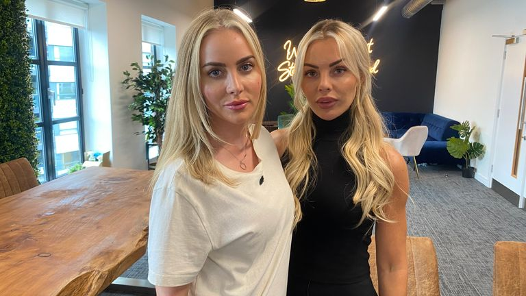 Ms Stobart (left) and Ms Harris have both been talked about on Tattle Life and they both said reading the messages impacted their mental health negatively
