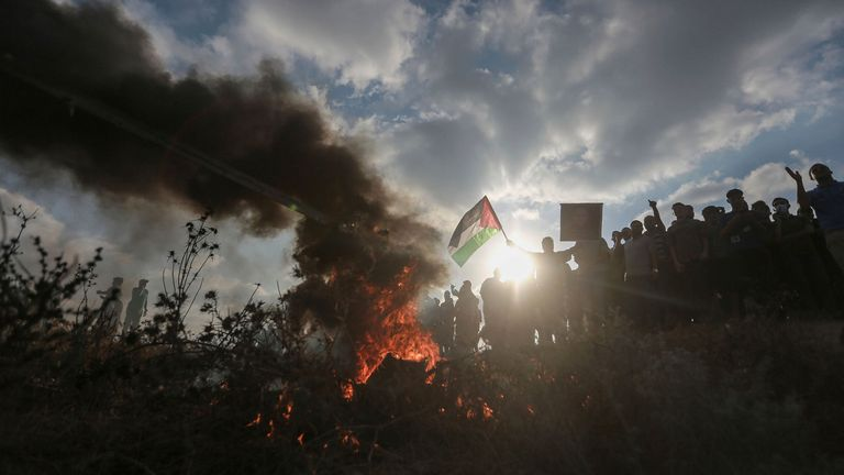 According to the Gaza health ministry, 24 Palestinians, including a 13-year-old, were injured by gunfire. The Israeli military said one soldier was severely injured and taken to hospital. Pic AP