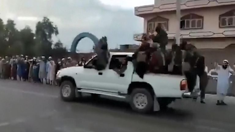 The Taliban took the city of Jalalabad without a fight, officials said