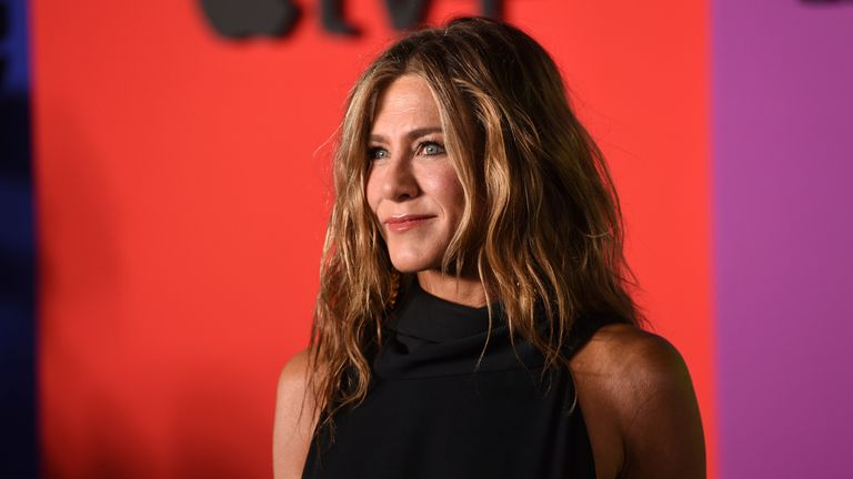 """Jennifer Aniston attends the world premiere of Apple's """"The Morning Show"""" on Oct. 28, 2019, in New York. Aniston turns 52 on Feb. 11. (Photo by Evan Agostini/Invision/AP, File)"""