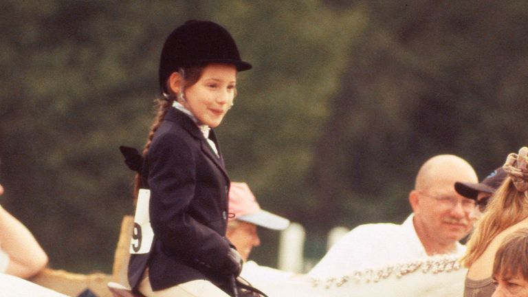 Jessica Springsteen at aged seven in August 1999 Pic: Nancy Barr-Brandon/MediaPunch /IPX