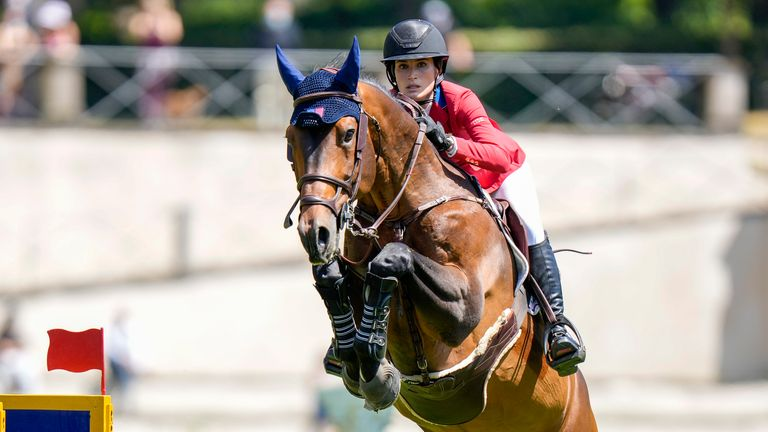 Jessica Springsteen secured a silver medal at the Olympics.