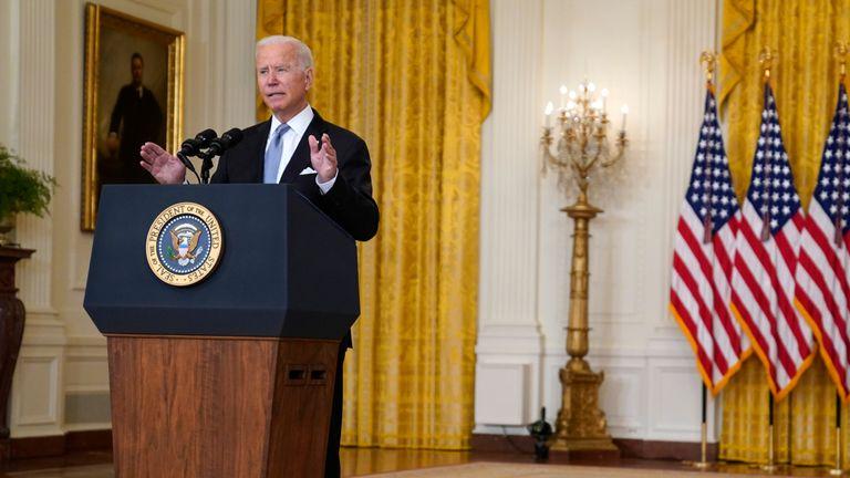 President Joe Biden gives an address on Afghanistan