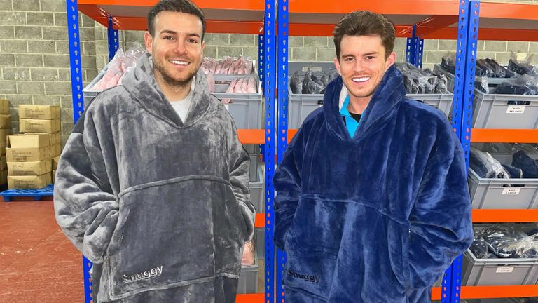 Joel Pierre and Jack Griffiths are the founders of loungewear firm Snuggy