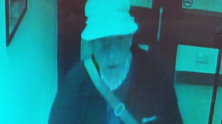 The pensioner was last seen wearing a white sun hat and a dark jacket. Pic: Police Scotland