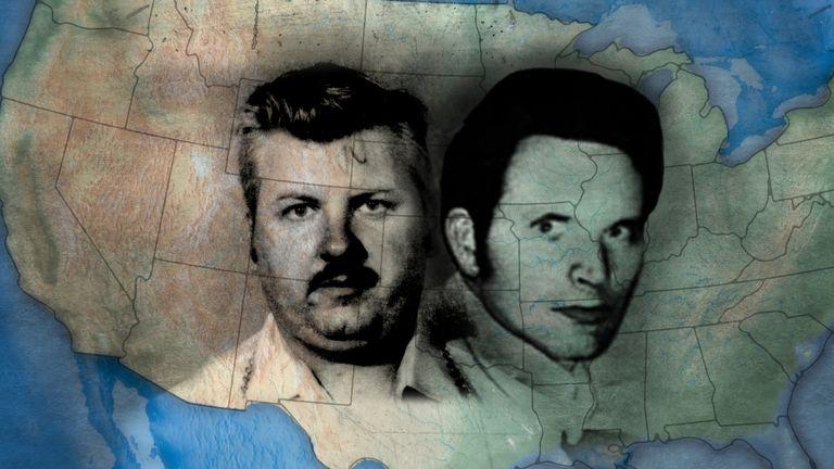 Serial killers John Wayne Gacy and Dean Corll. Pic: Cineflix