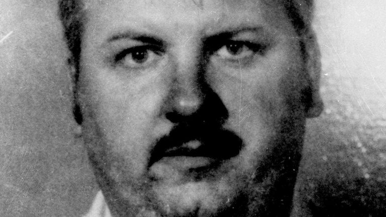 Serial killer John Wayne Gacy. Pic: AP