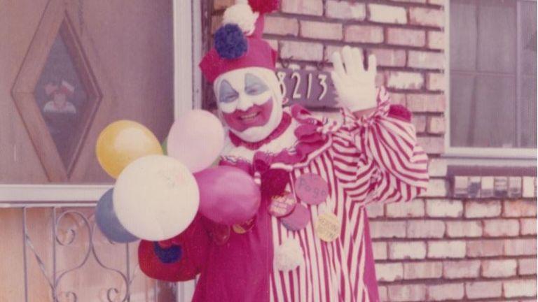 John Wayne Gacy as Pogo the clown. Pic: Cineflix