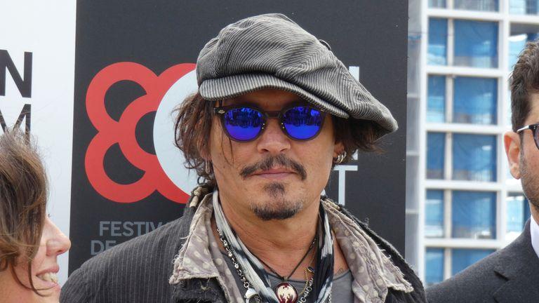 Johnny Depp at the BCN Film Fest in Barcelona in April 2021. Pic: AP