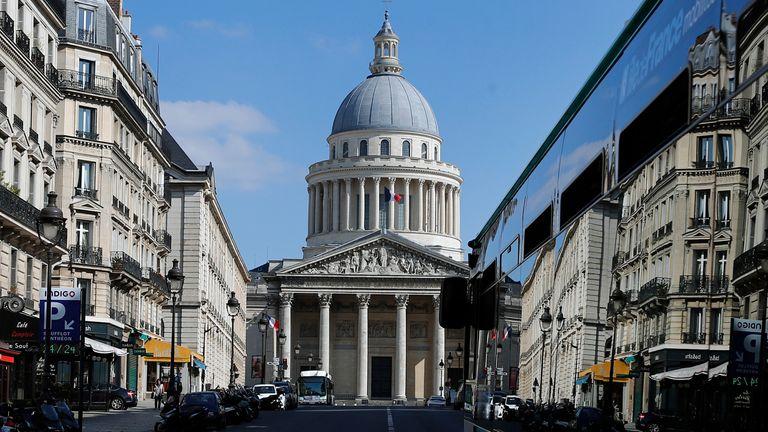 The Pantheon in Paris. Pic: AP