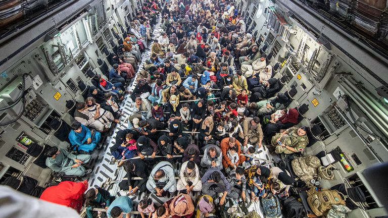 A full flight of 265 people supported by Members of the UK Armed Forces who continue to take part in the evacuation of entitled personnel from Kabul airport. The UK have been working closely with our international partners to complete the evacuation safely.