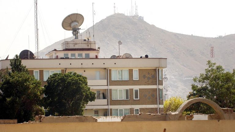 The British Embassy in Kabul, Afghanistan