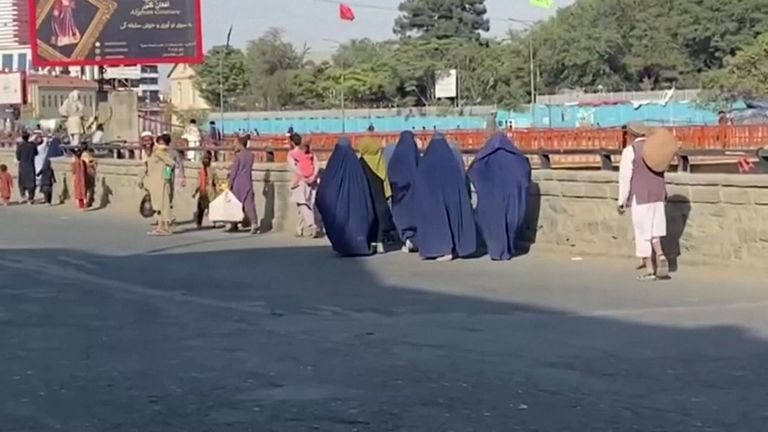 Women on the streets of Kabul.