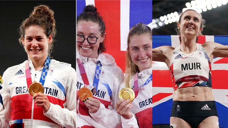 (L-R) Kate French, Katie Archibald, Laura Kenny and Laura Muir