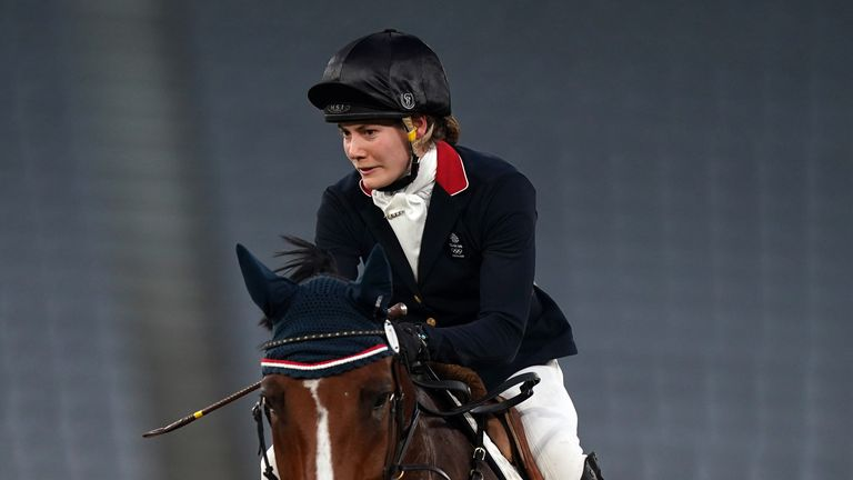 French put in a strong performance in the showjumping portion