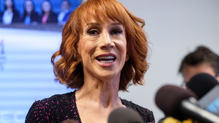 Kathy Griffin in 2017. Pic: Reuters