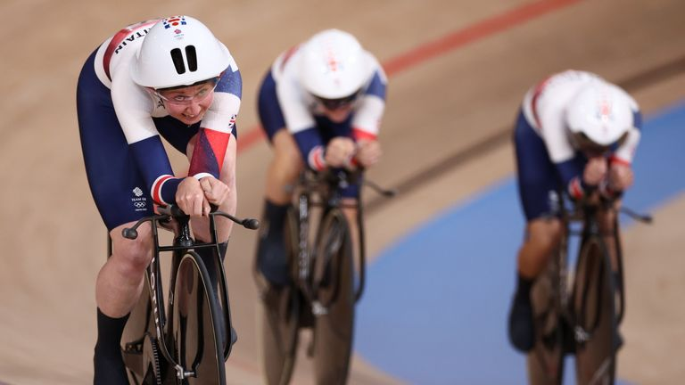 Katie Archibald, Laura Kenny and Elinor Barker raced lost to Germany