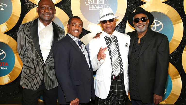 George Brown, Ronald Bell, Dennis Thomas and Robert 'Kool' Bell of Kool & The Gang in 2014
