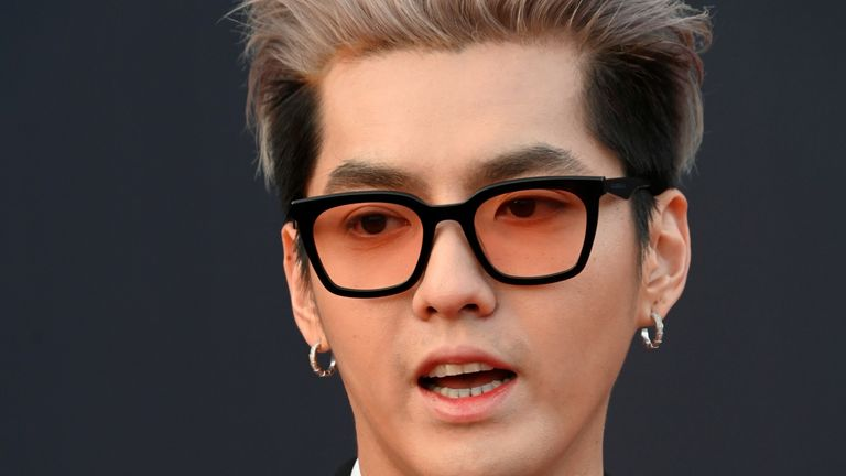 Rapper, singer, record producer and model Kris Wu has been detained by Beijing police on suspicion of rape. Pic: Stringer/ Imaginechina via AP