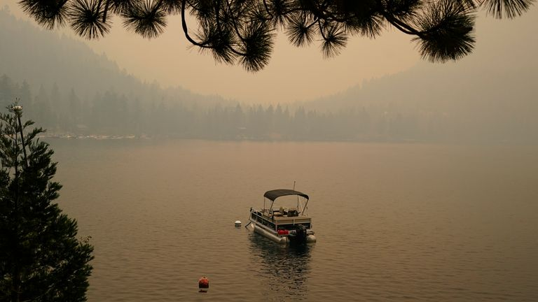The lake is a popular tourist destination, offering a variety of activities. Pic AP