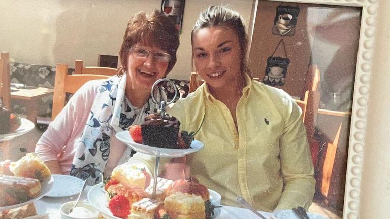 Lauren Price with her grandma
