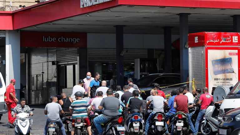 At one petrol station near Tripoli, a gunfight broke out with reports of a grenade being thrown. Pic AP