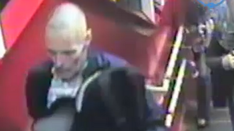 CCTV of Lee Peacock at Wembley North station on 19 August. Pic Metropolitan Police