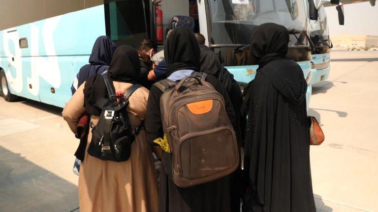 Those fleeing Kabul arrive in Qatar