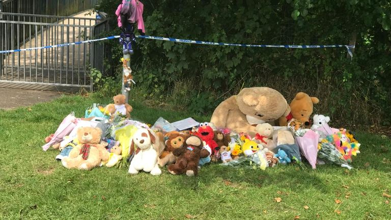 Tributes left at the scene