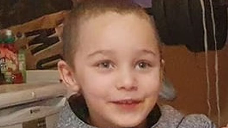 The five-year-old boy who died was named Logan