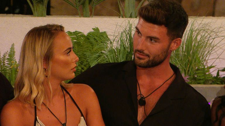 Love Island contestant Liam's cheating in Casa Amor was revealed to Millie in a shock twist. Pic: ITV/Lifted Entertainment