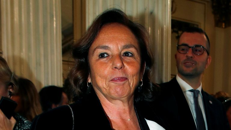 Italian Interior Minister Luciana Lamorgese.