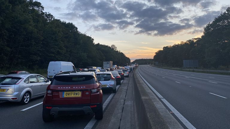 A serious collision has occurred on the M25. Pic: Michael Hill