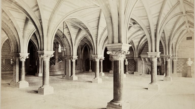The hall has hosted civic meetings, weddings and Hollywood movie sets. Pic Historic England Archive