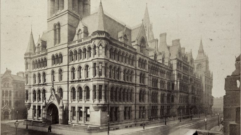 The town hall in Manchester has been the cities crown jewel since the 1870s and is now undergoing much-needed restoration. Pic Historic England Archive