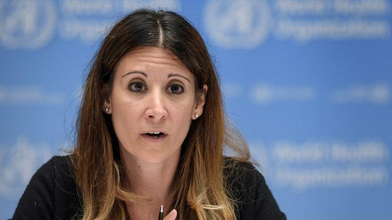 Dr Maria Van Kerkhove from the World Health Organisation