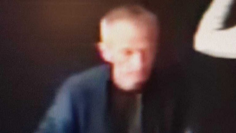 A CCTV image issued by West Yorkshire Police showing Mark Barrott at Leeds railway station on Sunday
