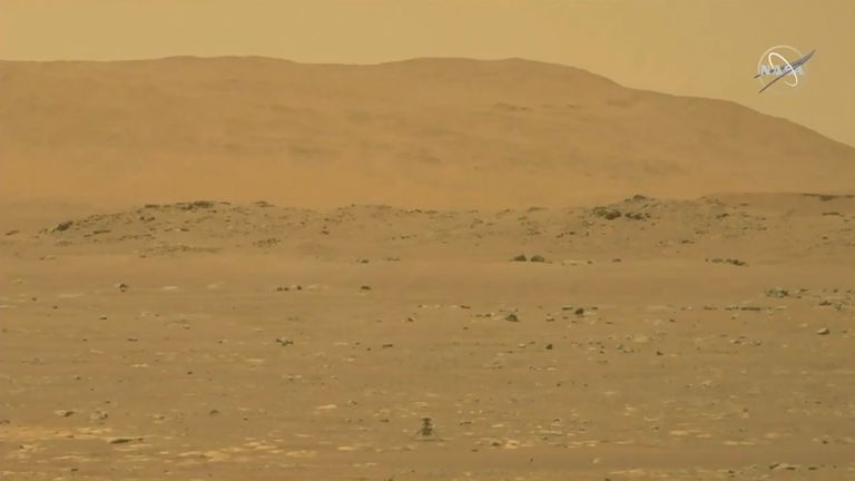NASA's Mars helicopter Ingenuity starts its first flight on the planet.