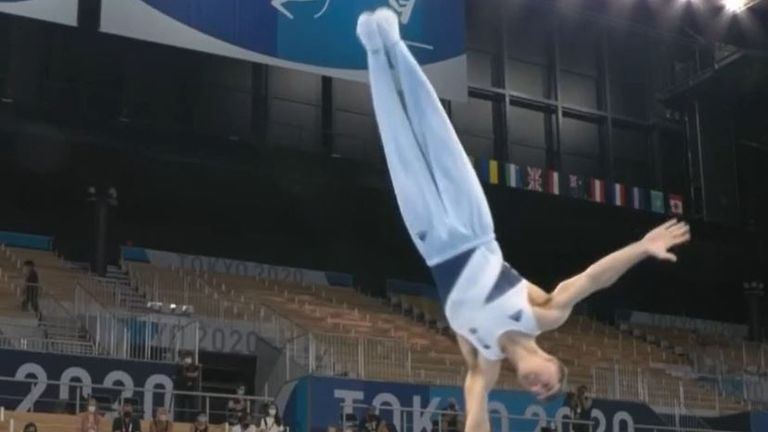 Max Whitlock storms home with a gold in the pommel horse event