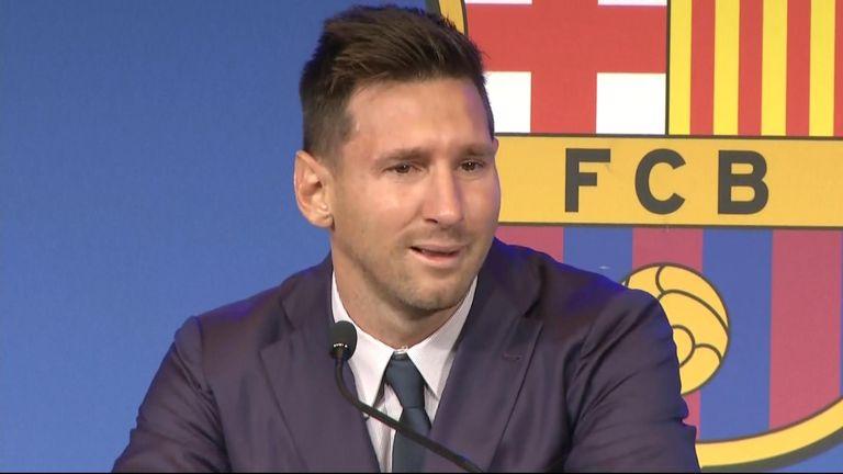 Messi Barcelona presser