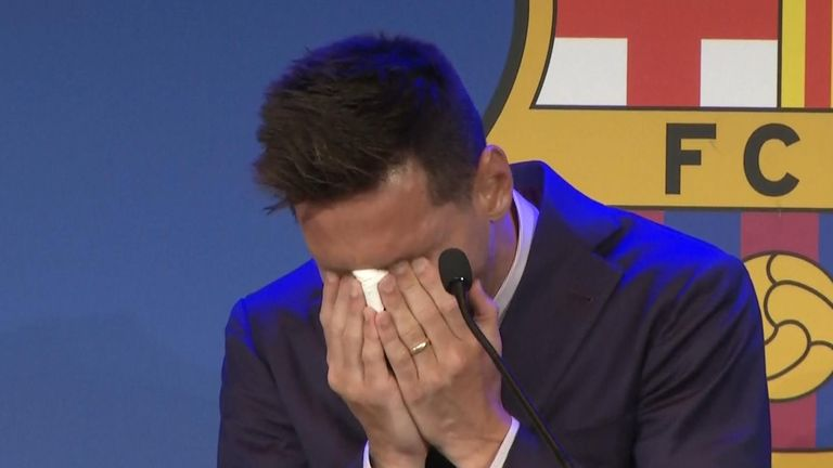 Messi at Barcelona presser