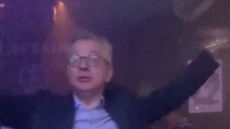 Cabinet Office minister Michael Gove spotted dancing in a nightclub