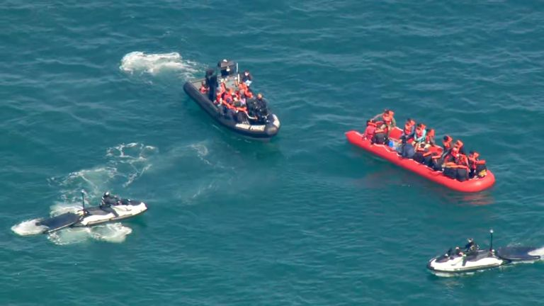 Migrants have been picked up in the English Channel by the UK Border Force patrol.
