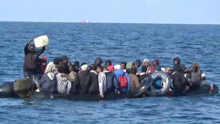 Migrants near Dover