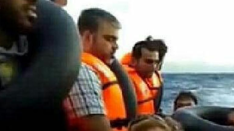 Mohammad Saoud travelled on a boat in between Turkey and Greece