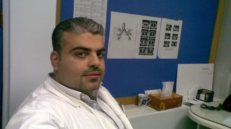 Mohammad Saoud in a radiology department in Damascus, Syria