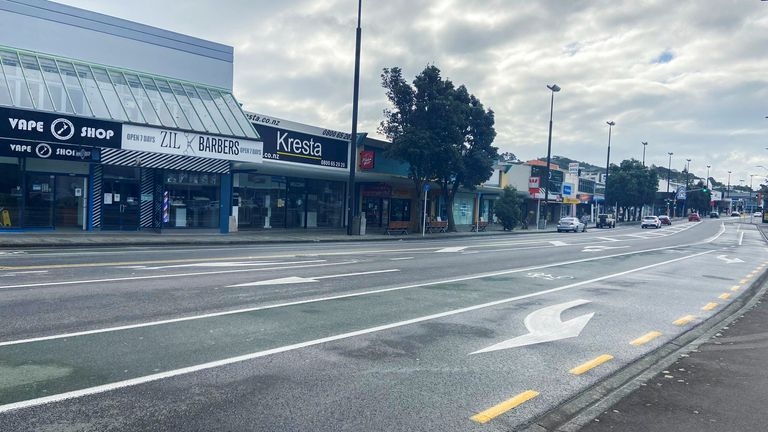 Streets were empty during Wellington's lockdown, 20 August
